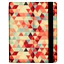 Modern Hipster Triangle Pattern Red Blue Beige Apple iPad Mini Flip Case View2