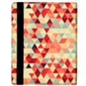 Modern Hipster Triangle Pattern Red Blue Beige Apple iPad Mini Flip Case View3