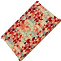 Modern Hipster Triangle Pattern Red Blue Beige Apple iPad Mini Hardshell Case View4