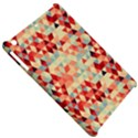 Modern Hipster Triangle Pattern Red Blue Beige Apple iPad Mini Hardshell Case View5