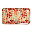 Modern Hipster Triangle Pattern Red Blue Beige Apple iPhone 3G/3GS Hardshell Case (PC+Silicone) View1