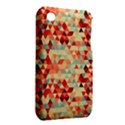 Modern Hipster Triangle Pattern Red Blue Beige Apple iPhone 3G/3GS Hardshell Case (PC+Silicone) View2