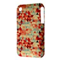 Modern Hipster Triangle Pattern Red Blue Beige Apple iPhone 3G/3GS Hardshell Case (PC+Silicone) View3
