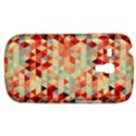Modern Hipster Triangle Pattern Red Blue Beige Samsung Galaxy S3 MINI I8190 Hardshell Case View1