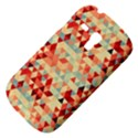 Modern Hipster Triangle Pattern Red Blue Beige Samsung Galaxy S3 MINI I8190 Hardshell Case View4