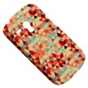 Modern Hipster Triangle Pattern Red Blue Beige Samsung Galaxy S3 MINI I8190 Hardshell Case View5