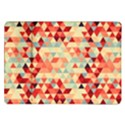 Modern Hipster Triangle Pattern Red Blue Beige Samsung Galaxy Tab 10.1  P7500 Flip Case View1