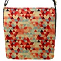 Modern Hipster Triangle Pattern Red Blue Beige Flap Covers (S)  View1