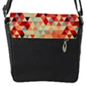 Modern Hipster Triangle Pattern Red Blue Beige Flap Covers (S)  View2