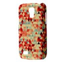 Modern Hipster Triangle Pattern Red Blue Beige Galaxy S4 Mini View3