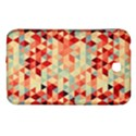 Modern Hipster Triangle Pattern Red Blue Beige Samsung Galaxy Tab 3 (7 ) P3200 Hardshell Case  View1