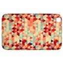 Modern Hipster Triangle Pattern Red Blue Beige Samsung Galaxy Tab 3 (8 ) T3100 Hardshell Case  View1