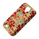 Modern Hipster Triangle Pattern Red Blue Beige Samsung Galaxy S4 Classic Hardshell Case (PC+Silicone) View4