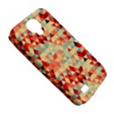 Modern Hipster Triangle Pattern Red Blue Beige Samsung Galaxy S4 Classic Hardshell Case (PC+Silicone) View5