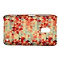 Modern Hipster Triangle Pattern Red Blue Beige Nokia Lumia 620 View1