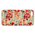 Modern Hipster Triangle Pattern Red Blue Beige iPhone 5S/ SE Premium Hardshell Case View1
