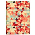 Modern Hipster Triangle Pattern Red Blue Beige iPad Mini 2 Flip Cases View1
