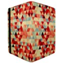 Modern Hipster Triangle Pattern Red Blue Beige iPad Mini 2 Flip Cases View3