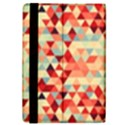 Modern Hipster Triangle Pattern Red Blue Beige iPad Mini 2 Flip Cases View4