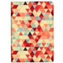Modern Hipster Triangle Pattern Red Blue Beige iPad Air Flip View1