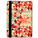 Modern Hipster Triangle Pattern Red Blue Beige iPad Air Flip View4