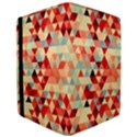 Modern Hipster Triangle Pattern Red Blue Beige iPad Air 2 Flip View3