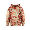 Modern Hipster Triangle Pattern Red Blue Beige Kids  Pullover Hoodie View1