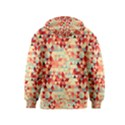 Modern Hipster Triangle Pattern Red Blue Beige Kids  Pullover Hoodie View2