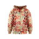 Modern Hipster Triangle Pattern Red Blue Beige Kids  Zipper Hoodie View1