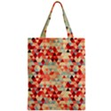 Modern Hipster Triangle Pattern Red Blue Beige Zipper Classic Tote Bag View1