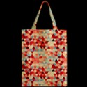 Modern Hipster Triangle Pattern Red Blue Beige Zipper Classic Tote Bag View2