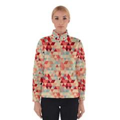 Modern Hipster Triangle Pattern Red Blue Beige Winterwear