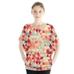 Modern Hipster Triangle Pattern Red Blue Beige Blouse