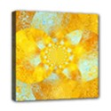 Gold Blue Abstract Blossom Mini Canvas 8  x 8  View1