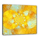 Gold Blue Abstract Blossom Canvas 24  x 20  View1