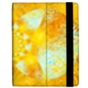 Gold Blue Abstract Blossom Apple iPad 3/4 Flip Case View2