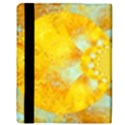 Gold Blue Abstract Blossom Apple iPad 3/4 Flip Case View3