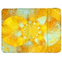 Gold Blue Abstract Blossom Samsung Galaxy Tab 7  P1000 Flip Case View1