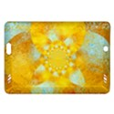 Gold Blue Abstract Blossom Amazon Kindle Fire HD (2013) Hardshell Case View1