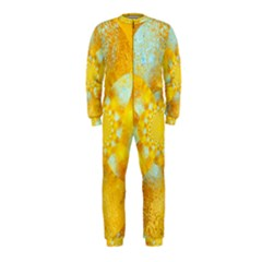 Gold Blue Abstract Blossom Onepiece Jumpsuit (kids) by designworld65