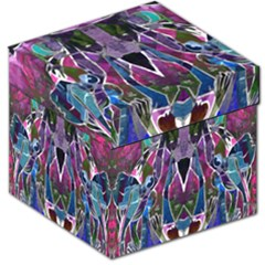 Sly Dog Modern Grunge Style Blue Pink Violet Storage Stool 12   by EDDArt