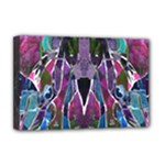 Sly Dog Modern Grunge Style Blue Pink Violet Deluxe Canvas 18  x 12