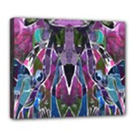 Sly Dog Modern Grunge Style Blue Pink Violet Deluxe Canvas 24  x 20