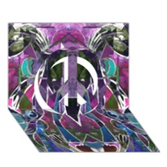 Sly Dog Modern Grunge Style Blue Pink Violet Peace Sign 3d Greeting Card (7x5)
