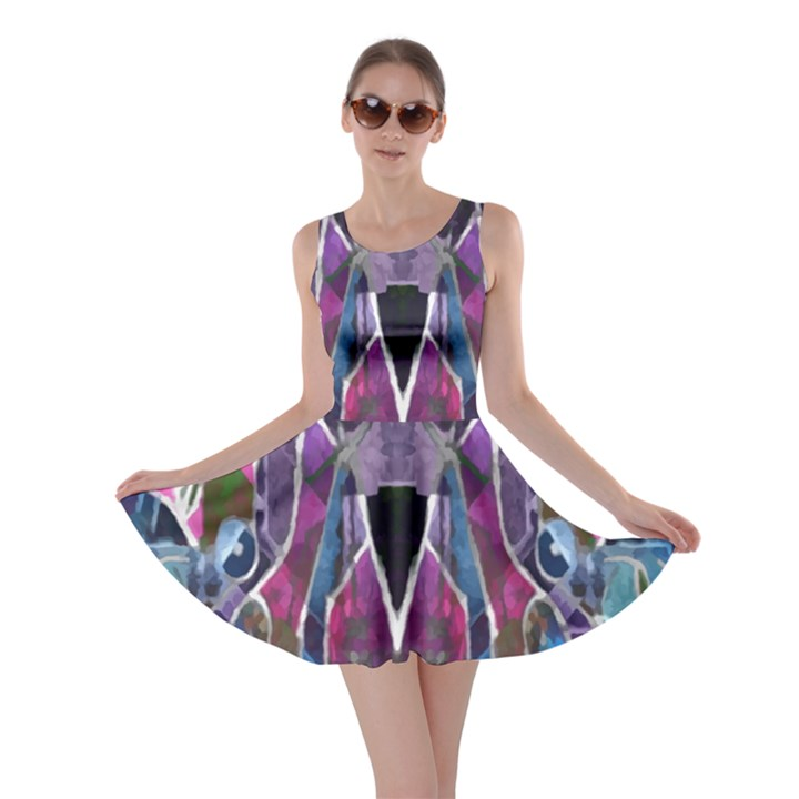 Sly Dog Modern Grunge Style Blue Pink Violet Skater Dress
