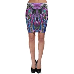 Sly Dog Modern Grunge Style Blue Pink Violet Bodycon Skirt by EDDArt