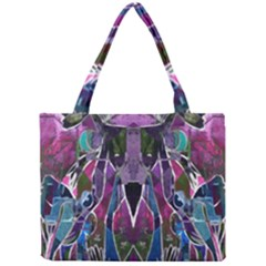 Sly Dog Modern Grunge Style Blue Pink Violet Mini Tote Bag by EDDArt
