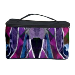 Sly Dog Modern Grunge Style Blue Pink Violet Cosmetic Storage Case by EDDArt