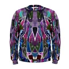 Sly Dog Modern Grunge Style Blue Pink Violet Men s Sweatshirt