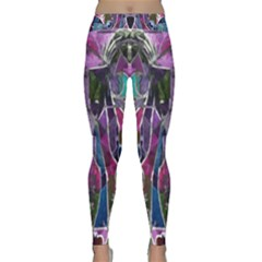 Sly Dog Modern Grunge Style Blue Pink Violet Yoga Leggings  by EDDArt